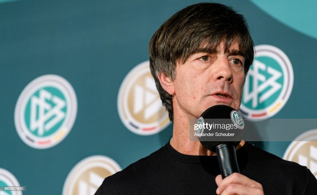 Joachim Loew attends the 1st International DFB Game Analysis Congress - Press Conference on November 30, 2017 in Frankfurt am Main, Germany.