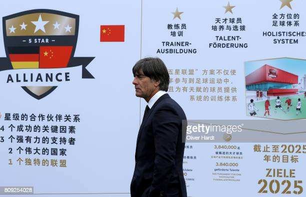 Joachim Loew attends the Chinese German Football Summer Camp at Stadion am Wurfplatz on July 5 2017 in Berlin Germany