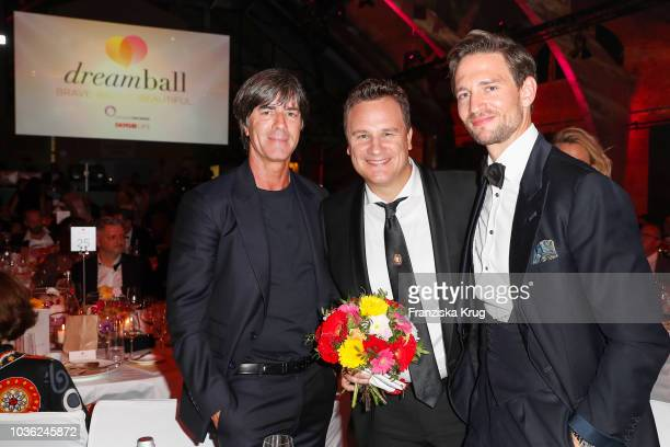 Joachim Loew Guido Maria Kretschmer and August Wittgenstein during the Dreamball 2018 at WECC Westhafen Event Convention Center on September 19 2018...