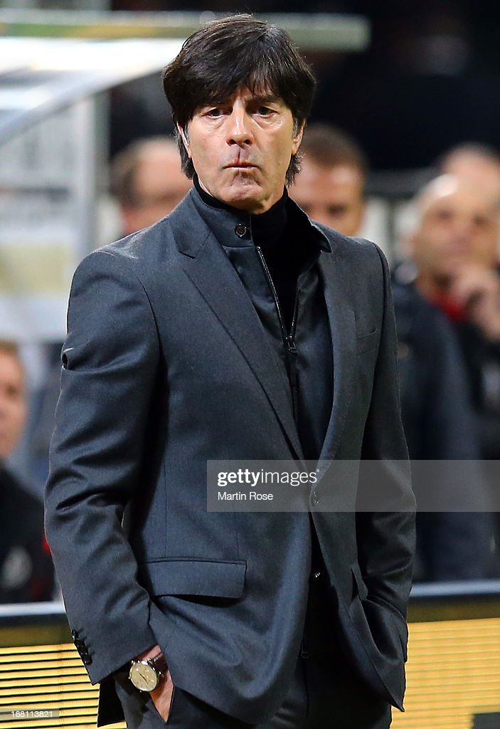 Joachim Loew, head caoch of Germany reacts during the International Friendly match between Italy and Germany at San Siro Stadium on November 15, 2013 in Milan, Italy.