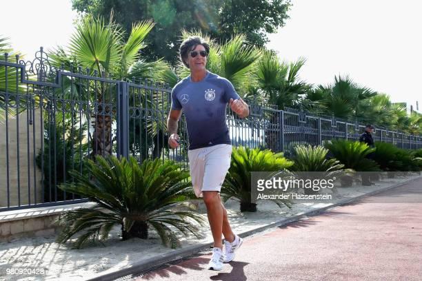 Joachim Loew head coach of Germany at a morning run on Adler Beach Boulvard at the team Hotel Radisson Blu Paradise Resort Spa a on June 22 2018 in...