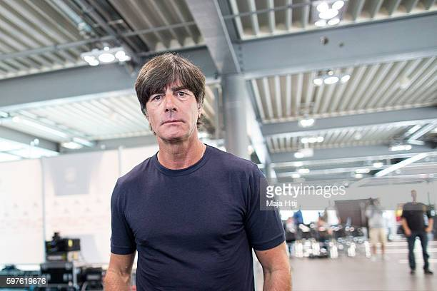 Joachim Loew head coach of Germany leaves the Germany press conference on August 29 2016 in Duesseldorf Germany