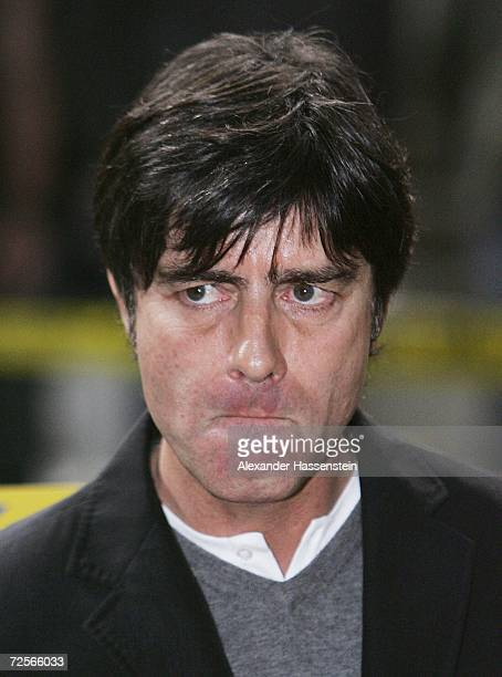 Joachim Loew head coach of Germany looks on during the Euro2008 qualifying match between Cyprus and Germany at the GSP stadium on November 15 2006 in...