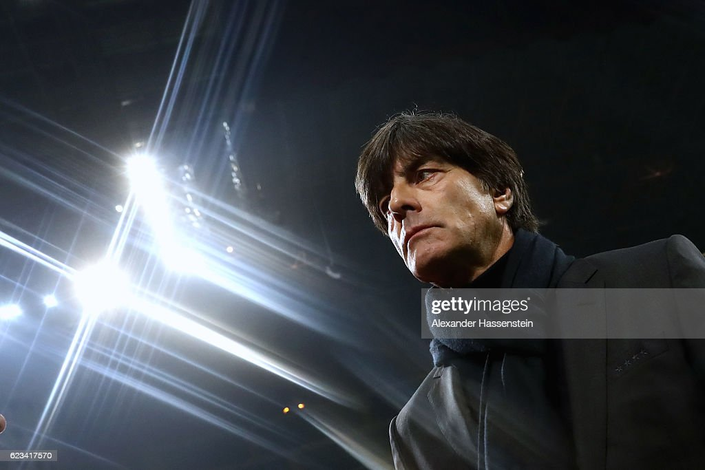 Joachim Loew, head coach of Germany looks on prior to the International Friendly Match between Italy and Germany at Giuseppe Meazza Stadium on November 15, 2016 in Milan, .