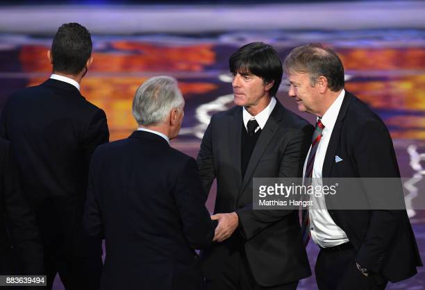 Joachim Loew Manager of Germany shakes hands during the Final Draw for the 2018 FIFA World Cup Russia at the State Kremlin Palace on December 1 2017...