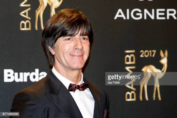 Joachim Loew trainer of German soccer team arrives at the Bambi Awards 2017 at Stage Theater on November 16 2017 in Berlin Germany