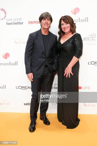 Joachim Loew trainer of the German soccer team and Ruth Neri attend the Dreamball 2018 at WECC Westhafen Event Convention Center on September 19 2018...