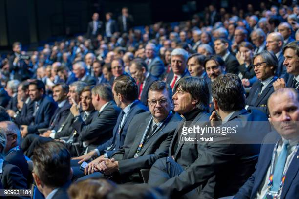 Joachim Low Germany during the UEFA Nations League Draw 2018 at Swiss Tech Convention Center on January 24 2018 in Lausanne Switzerland