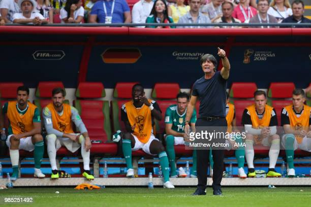 Joachim Low head coach / manager of Germany reacts during the 2018 FIFA World Cup Russia group F match between Korea Republic and Germany at Kazan...