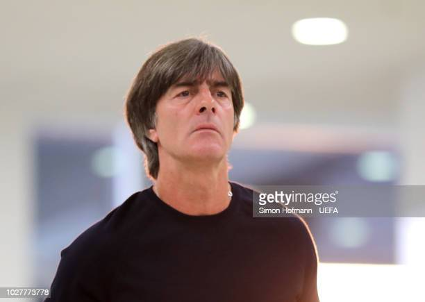 Joachim Low Manager of Germany arrives at the stadium prior to the UEFA Nations League Group A match between Germany and France at Allianz Arena on...