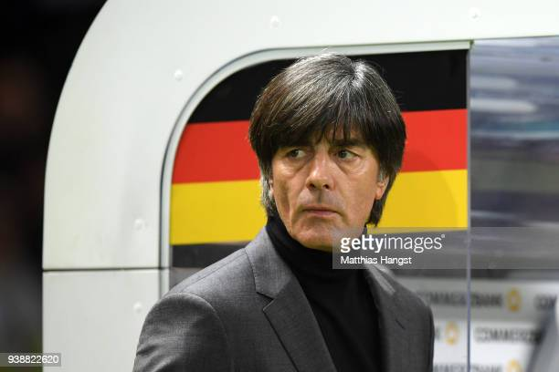 Joachim Low Manager of Germany looks on prior to the International friendly between Germany and Brazil at Olympiastadion on March 27 2018 in Berlin...