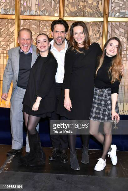 Joachim Paul Assboeck Nellie Thalbach Oliver Mommsen Nicola Ransom and Zoe Moore attend the Ab jetzt theater premiere on January 26 2020 in Berlin...