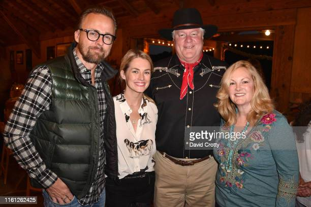 Joachim Ronning, Amanda Hearst, Jamie Figg and Patricia Hearst Shaw attend Hearst Castle Preservation Foundation - Patron Cowboy Cookout at Hearst...