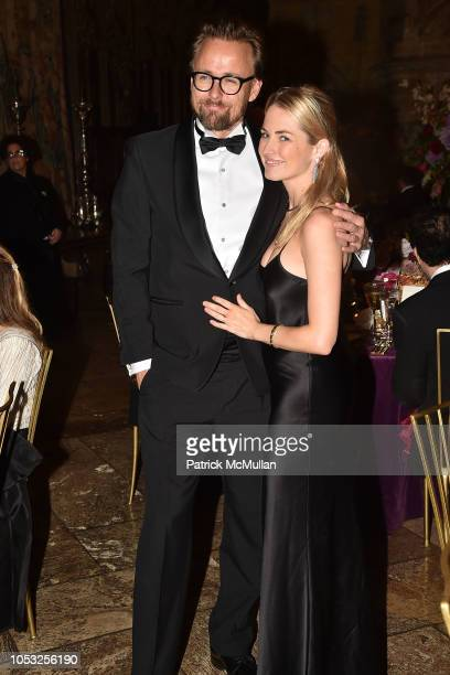 Joachim Ronning and Amanda Hearst attend Hearst Castle Preservation Foundation Hollywood Royalty Dinner at Hearst Castle on September 28 2018 in San...