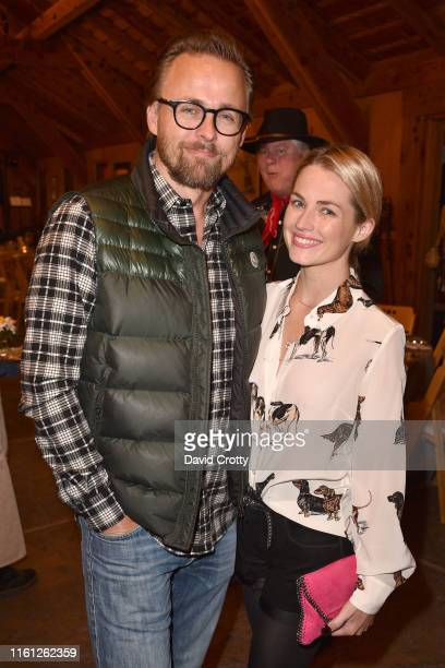 Joachim Ronning and Amanda Hearst attend Hearst Castle Preservation Foundation Patron Cowboy Cookout at Hearst Ranch on September 29 2018 in San...