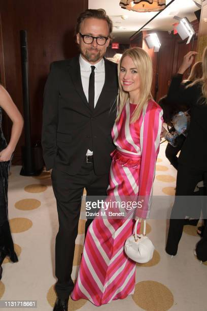 Joachim Ronning and Amanda Hearst attend the MAISONDEMODECOM Sustainable Style Gala at The Sunset Tower on February 23 2019 in Los Angeles California