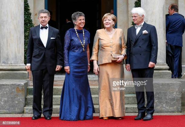 Joachim Sauer Brigitte MerkErbe German chancellor Angela Merkel and Thomas Erbe attend the Bayreuth Festival 2017 Opening on July 25 2017 in Bayreuth...