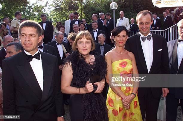 Joachim Sauer Ehefrau Angela Merkel Charlotte Friedrich Merz Bei Der Eröffnung Der Richard Wagner Festspiele In Bayreuth Am 250701