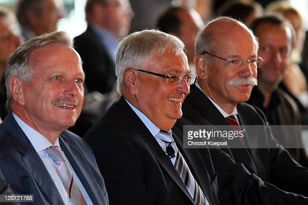 Joachim Schmidt, distribution and marketing manager of Mercedes-Benz, Theo Zwanziger, president of the German Football Association and Dieter...