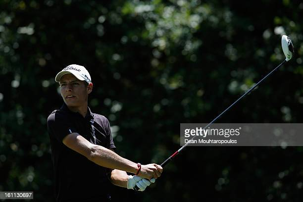 Joakim Lagergren of Sweden hits his tee shot on the 9th hole during Day Three of the Joburg Open at Royal Johannesburg and Kensington Golf Club on...