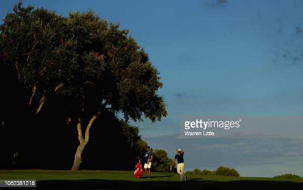 Joakim Lagergren of Sweden is pictured ahead of the Andalucia Valderrama Masters at Real Club Valderrama on October 17 2018 in Cadiz Spain