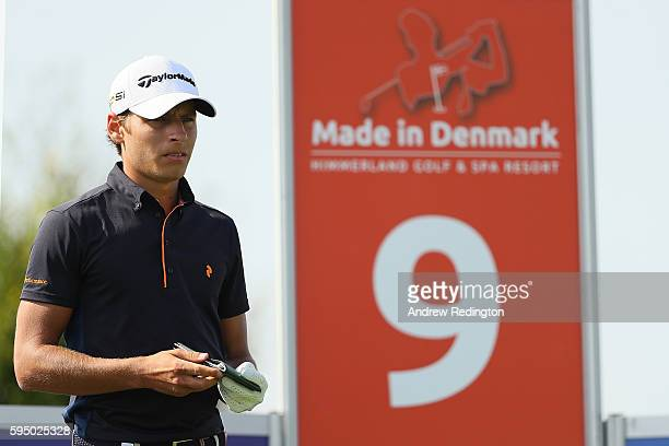 Joakim Lagergren of Sweden looks down the 9th hole during the first round of Made in Denmark at Himmerland Golf Spa Resort on August 25 2016 in...