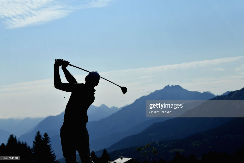Joakim Lagergren of Sweden on the 14th during day one of the 2017 Omega European Masters at Crans-sur-Sierre Golf Club on September 7, 2017 in Crans-Montana, Switzerland.