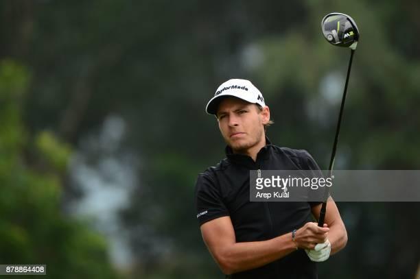 Joakim Lagergren of Sweden pictured during round three of the UBS Hong Kong Open at The Hong Kong Golf Club on November 25 2017 in Hong Kong Hong Kong