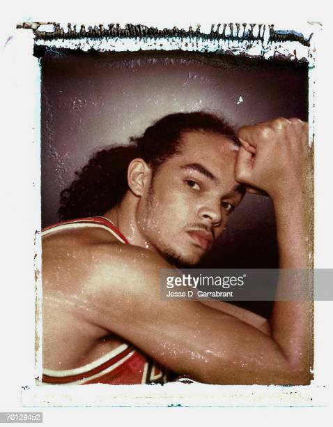 Joakim Noah of the Chicago Bulls poses for a portrait during the 2007 NBA Rookie Photo Shoot on July 27, 2007 at the MSG Training Facility in...