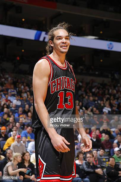 Joakim Noah of the Chicago Bulls reacts to a call in a game against the Golden State Warriors on January 18 2010 at Oracle Arena in Oakland...