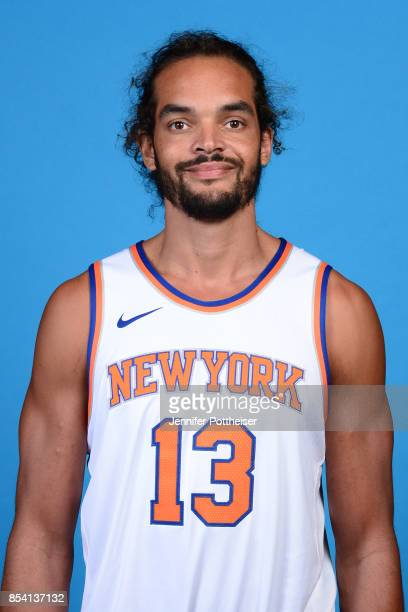 Joakim Noah of the New York Knicks poses for a portrait during 2017 Media Day on September 25 2017 at the New York Knicks Practice Facility in...