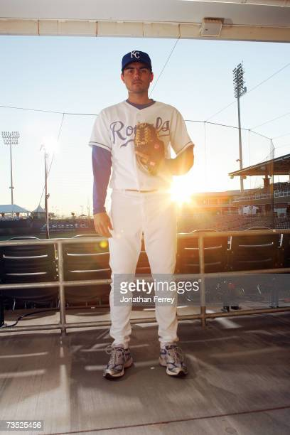 Joakim Soria of the Kansas City Royals poses for a portrait during Photo Day on February 25 2007 at Surprise Stadium in Surprise Arizona