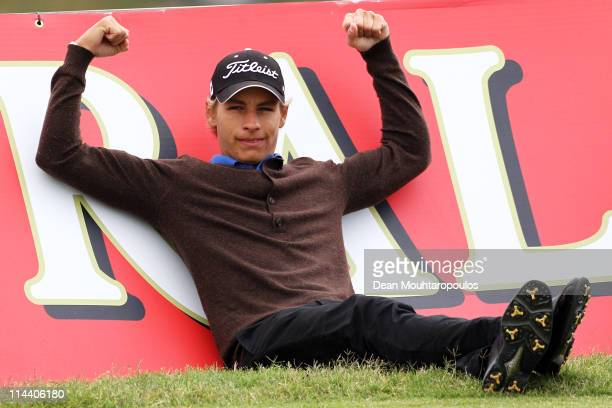 Joakin Lagergren of Sweden poses on the 3rd hole during day one of the Madeira Islands Open on May 19 2011 in Porto Santo Island Portugal