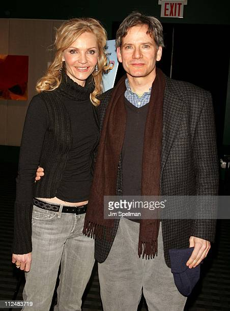 Joan Allen and Campbell Scott director during Off the Map New York City Premiere at Lincoln Center's Walter Reade Theater in New York City New York...