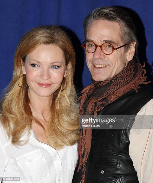 Joan Allen and Jeremy Irons attend a meetandgreet for the Broadway show Impressionism at the New 42nd Street Studios on February 17 2009 in New York...