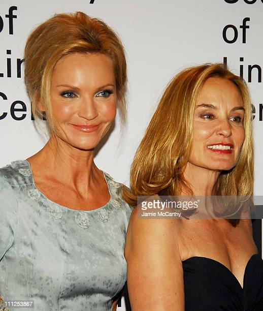 Joan Allen and Jessica Lange during Jessica Lange Honored by the Film Society of Lincoln Center - Green Room at Avery Fisher Hall in New York City,...