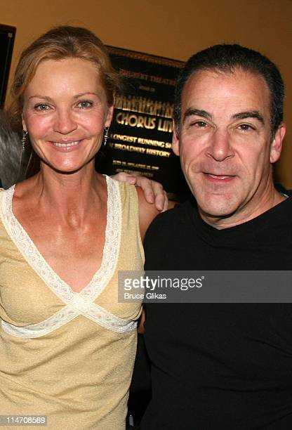 Joan Allen and Mandy Patinkin during 60th Annual Tony Awards - Reunion Photo Luncheon - June 1, 2006 at Sardi's in New York City, New York, United...