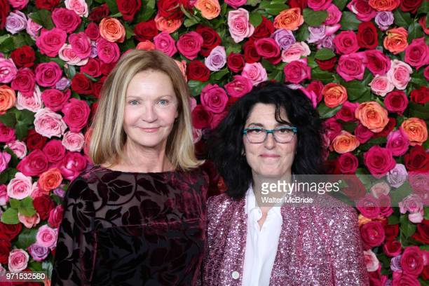 Joan Allen and Tina Landau attend the 72nd Annual Tony Awards on June 10 2018 at Radio City Music Hall in New York City