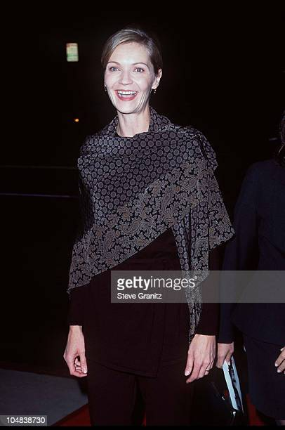 """Joan Allen during """"The Crucible"""" Los Angeles Premiere at AMPAS Goldwyn Theater in Beverly Hills, California, United States."""