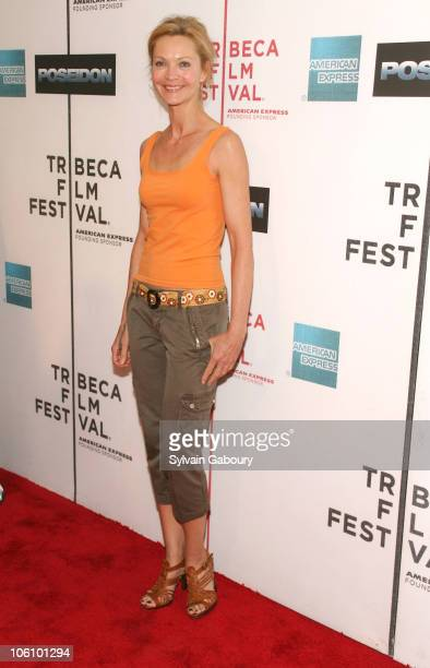 Joan Allen during Tribeca Film Festival Premiere of Warner Bros' Poseidon Arrivals at Tribeca Performing Arts Center in New York New York United...