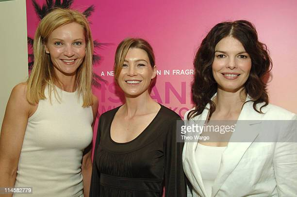 Joan Allen, Ellen Pompeo and Jeanne Tripplehorn during Michael Kors VIP Luncheon To Celebrate the Launch of His New Fragrance Island Michael Kors...