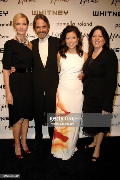 Joan Allen Jeremy Irons Andrea Wong and JoAnn Alfano attend GEORGIA O'KEEFFE ABSTRACTION Opening Reception and Dinner at The Whitney Museum on...