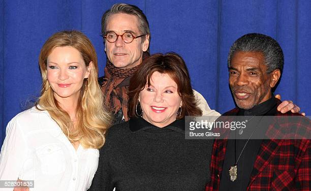 Joan Allen Jeremy Irons Marsha Mason and Andre De Shields attend a meetandgreet for the Broadway show Impressionism at the New 42nd Street Studios on...