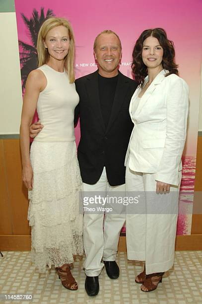 Joan Allen Michael Kors and Jeanne Tripplehorn during Michael Kors VIP Luncheon To Celebrate the Launch of His New Fragrance Island Michael Kors FIJI...