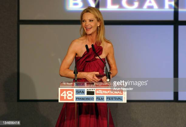Joan Allen with the Peter J Owens Award during 48th San Francisco International Film Festival Film Society Awards Night Honors Joan Allen Taylor...