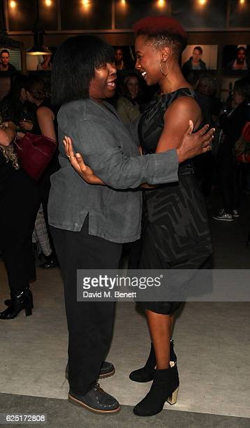 Joan Armatrading and Jade Anouka attend the press night of The Donmar's Shakespeare Trilogy at the new Donmar King's Cross Theatre on November 22,...