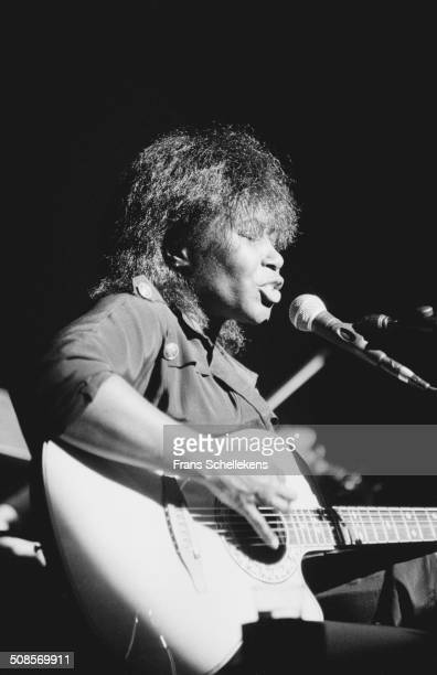 Joan Armatrading, vocals, performs at the Paradiso in Amsterdam, Netherlands on 17th March1996.