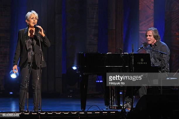 Joan Baez 75th Birthday Celebration at Beacon Theater on Wednesday night January 27 2016This imageJoan Baez left and Jackson Browne performing Before...