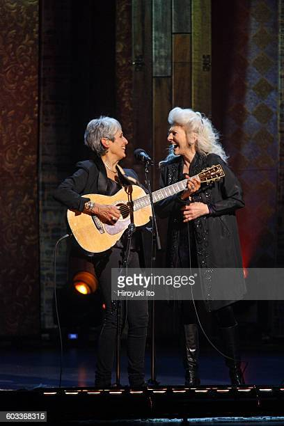 Joan Baez 75th Birthday Celebration at Beacon Theater on Wednesday night January 27 2016This imageJoan Baez left and Judy Collins performing Diamond...