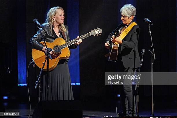 Joan Baez 75th Birthday Celebration at Beacon Theater on Wednesday night January 27 2016This imageJoan Baez right with Mary Chapin Carpenter...